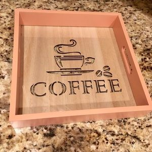 Other - WOODEN CUT OUT COFFEE TRAY...SO CUTE!